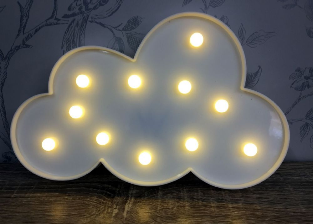 WHITE LED Light Up Cloud Circus Light ~ Wall Hanging
